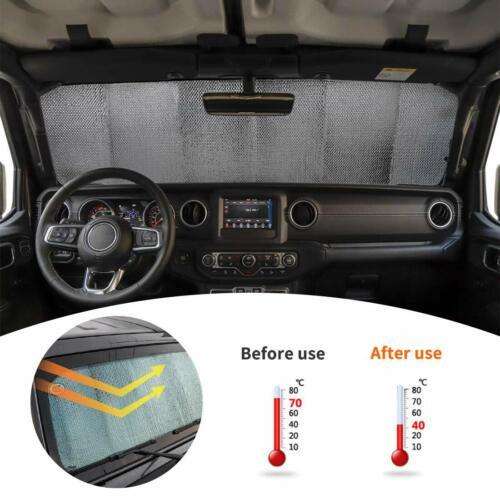 Interior Parts Front Windshield Sunshade Visor Anti UV Rays for Jeep Wrangler JL