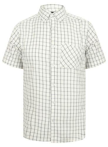 Mens Shirt Short Sleeve Check New Cotton Blend Lightweight Summer Pendeen Beach