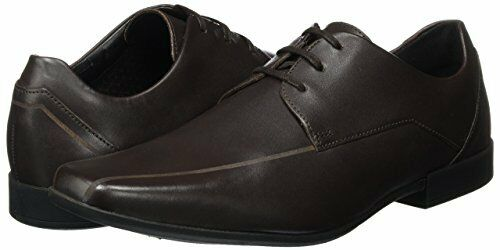 Clarks Mens Glement Over Dark Brown Leather shoes G