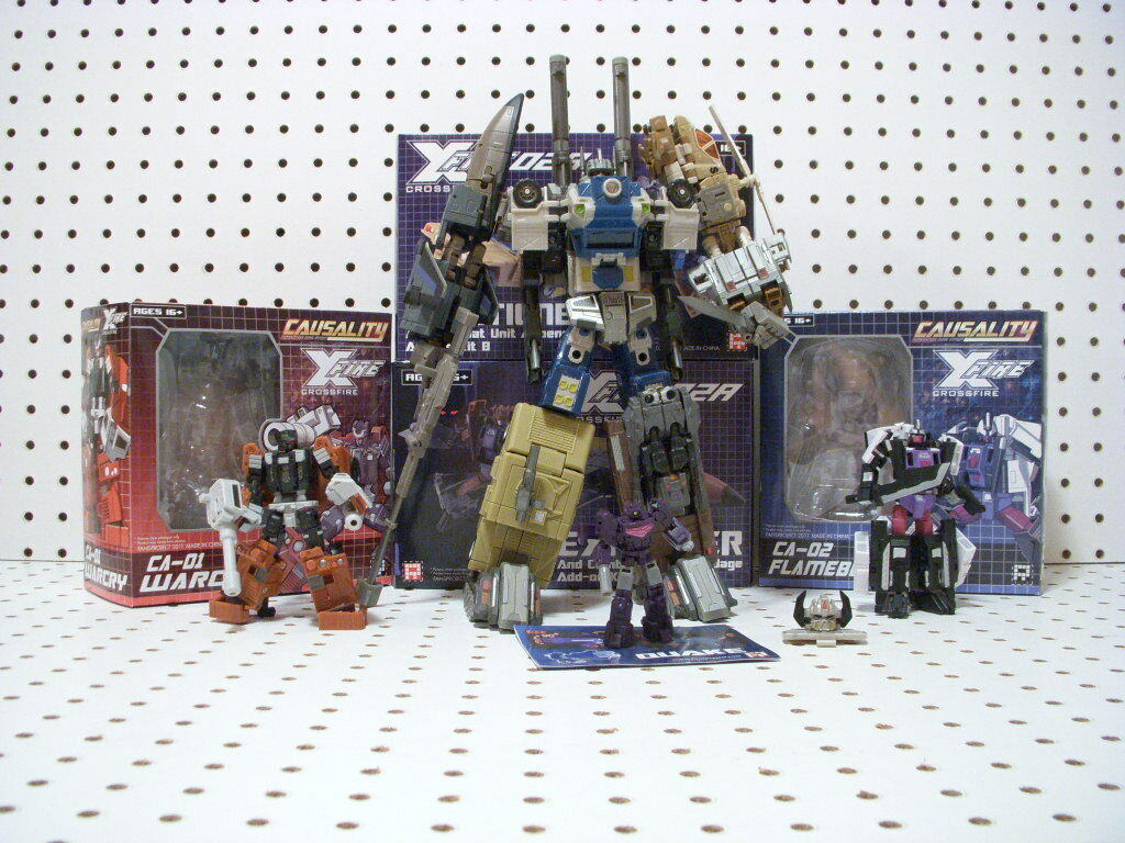 Transformers Fansproject Bruticus CA-01 Warcry, CA-02 Flameblast, Mini Quakewave