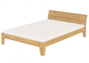 lit double ch lit bois massif futon lit 160x200 matelas rouille m ebay. Black Bedroom Furniture Sets. Home Design Ideas