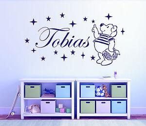 Wandtattoo-Kinderzimmer-Teddy-mit-Wunschname-und-Sternen