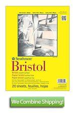 "Strathmore 300 Bristol Board Smooth Surface 20 Sheet Pad 19""x24"" 100lbs"