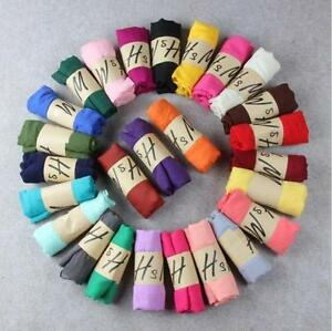 Womens-Girl-long-Scarf-soft-Silk-Chiffon-Wrap-Shawl-Pashmina-Scarves-Candy-Color