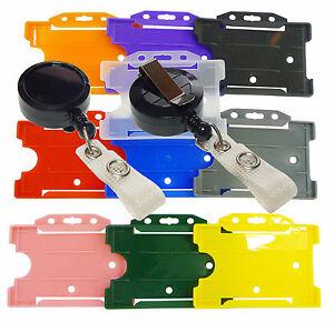 BADGE REEL - MINI BLACK RETRACTABLE RECOIL YOYO SKI PASS AND ID CARD HOLDER lot