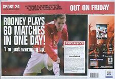 """Fifa 06 """"Out On Friday"""" 2005 Magazine Double Page Advert #4849"""