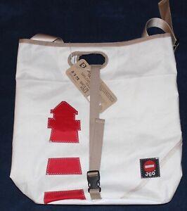 timeless design 0c99c 345c7 Details zu 360° Umhängetasche Tender Segeltuch Leuchtturm rot weiß  Taschenagentur Kramer