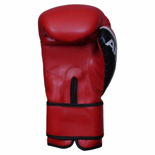 Red 2Fit® Art Leather Boxing Gloves Fight Punching Bag MMA Muay Thai Kickboxing