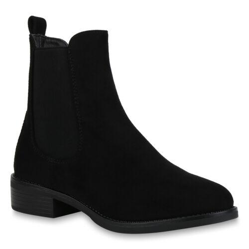 893916 Damen Stiefeletten Chelsea Boots Schuhe Booties New Look