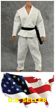 ❶❶1/6 scale Judo Gi white clothing Bruce Lee Kung Fu suit SHIP FROM U.S❶❶