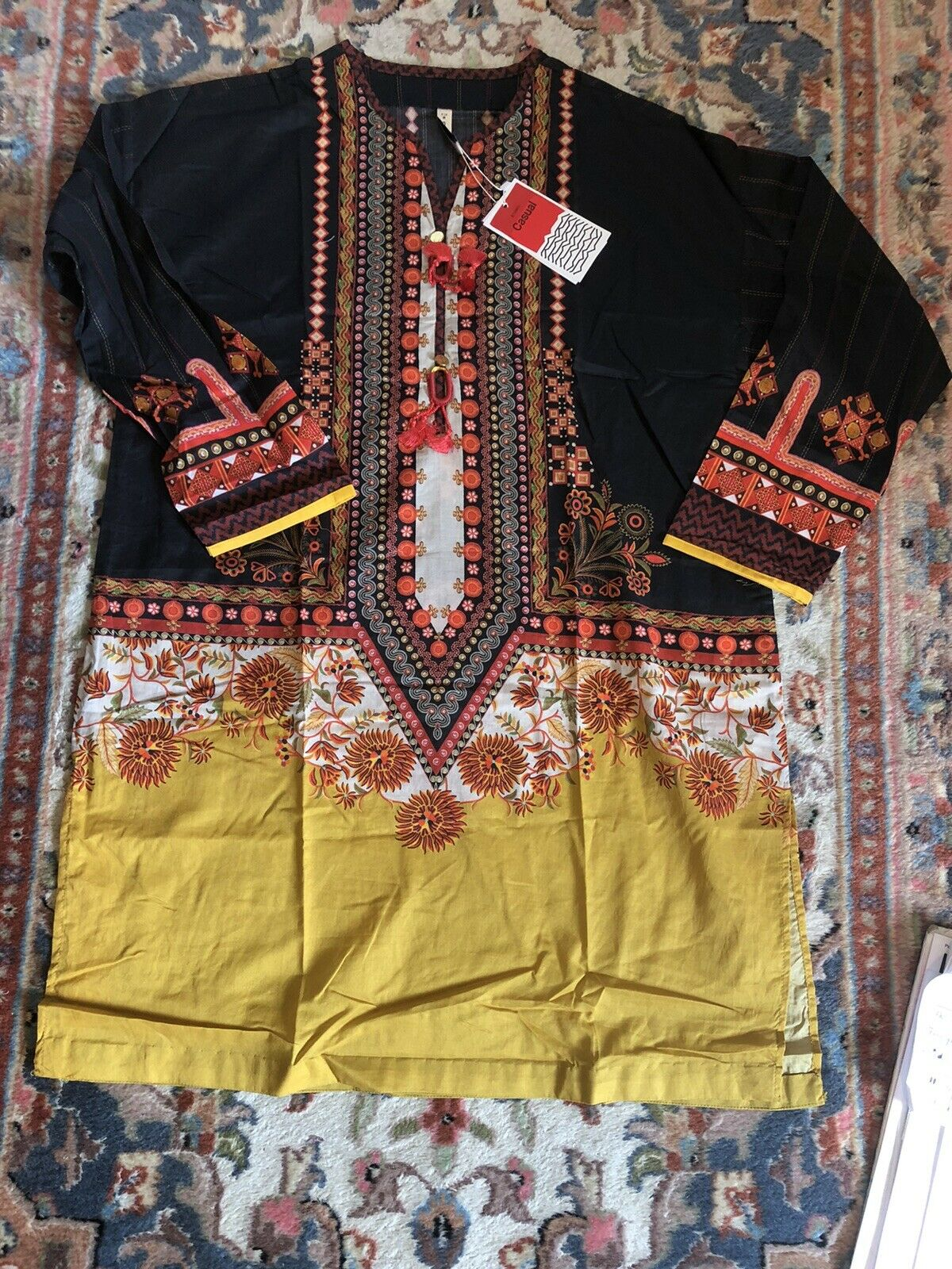 Ethnic By Outfitters Medium Cotton Printed Kurta