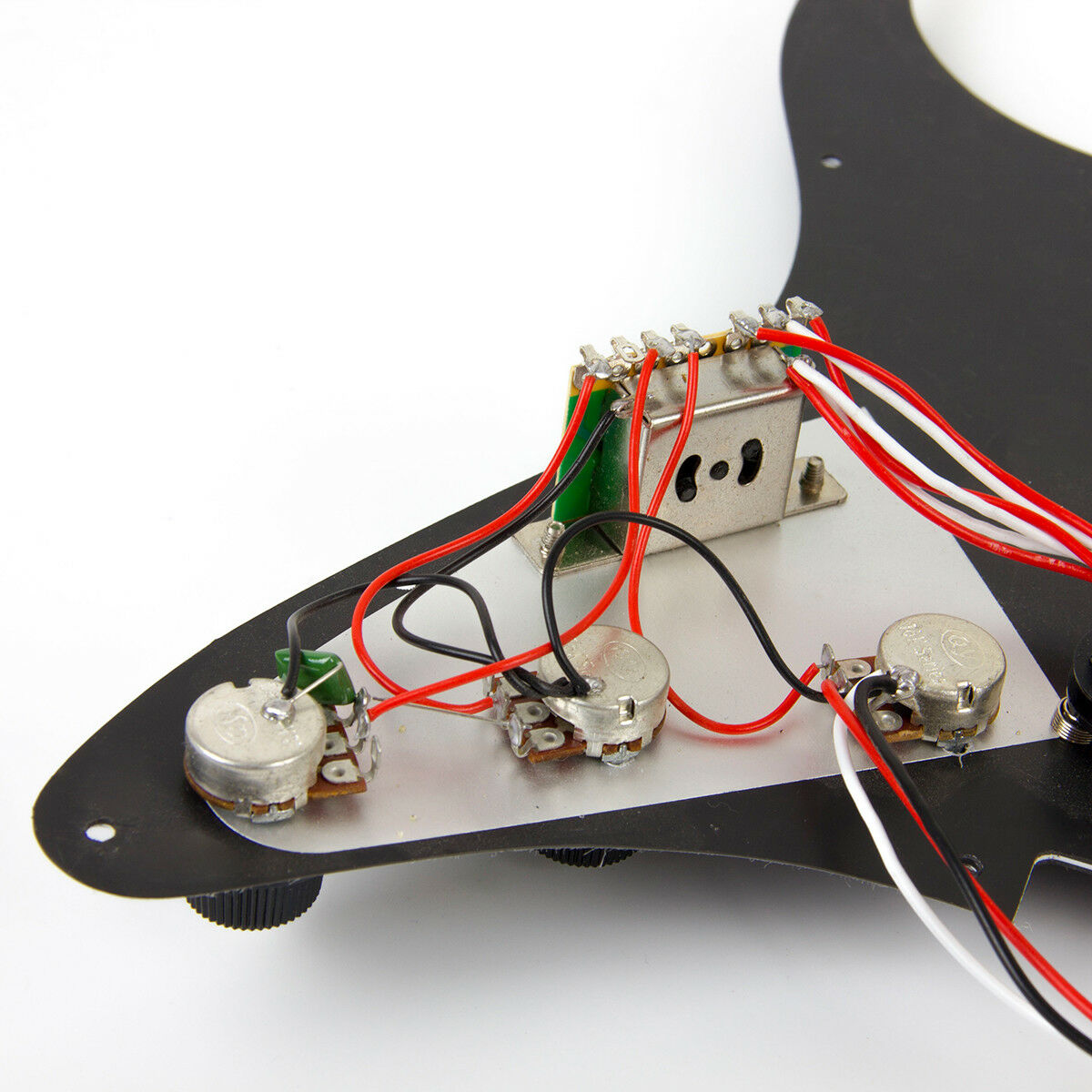 Black Guitar Prewired Loaded Pickguard For Fender Stratocaster Parts Wiring Harness Pickup 1v2t 5 Way Switch 500k Pots Strat Description