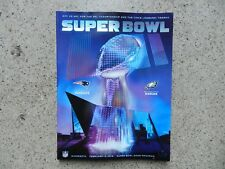 Super Bowl 52 LII Official Game Program Patriots vs Eagles (Stadium Edition)