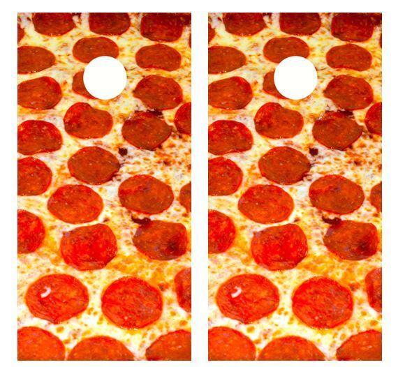 Pepperoni Pizza  Cornhole Board Wraps  for cheap