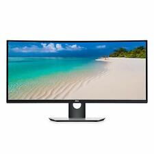 Dell Ultrasharp 34  Curved Monitor Black And Silver  -  3440 x 1440 WQHD display