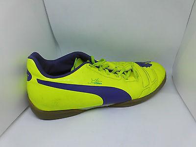 Puma evoPOWER 4 IT, Herren Hallenschuhe Gelb (fluro yellow-violet-blue) Gr.44,5