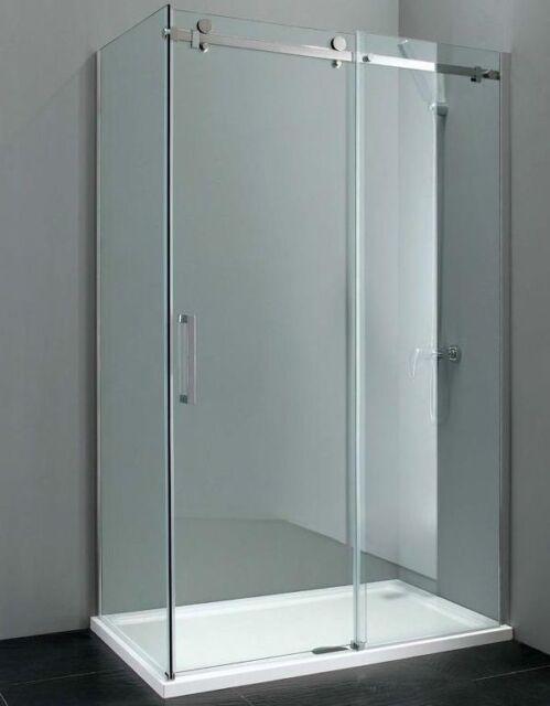 Elite 1200mm X 700mm Frameless Sliding Shower Enclosure 8mm Glass Ebay