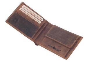 Greenburry-Vintage-Herrengeldboerse-Geldbeutel-Leder-Geldboerse-Boerse-braun