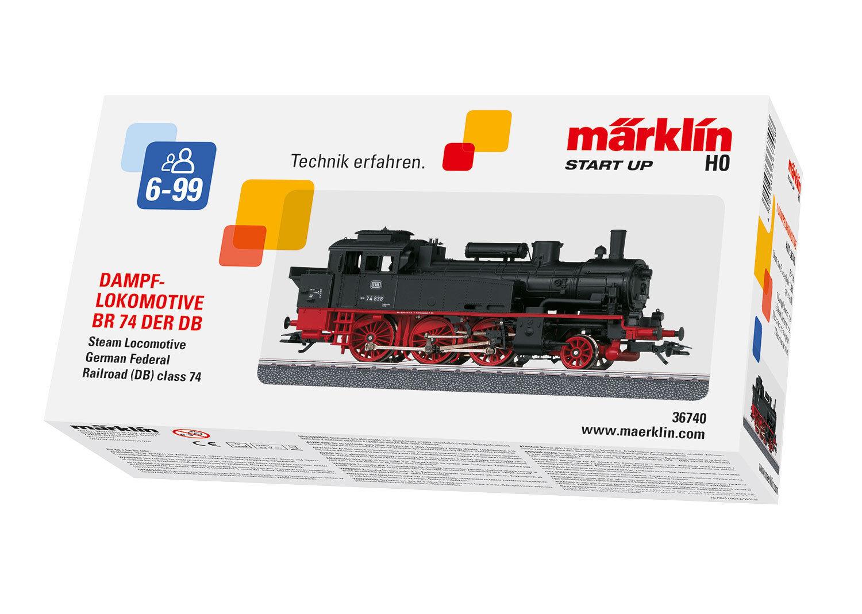 Märklin 36740 Tenderlok BR 74 delle DB con decodificatore digitale #neu in OVP #