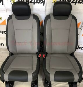 Miraculous Details About 2017 2018 Ford F 250 Xlt Supercrew Katzkin Leather Seat Covers Black Gray Lim Caraccident5 Cool Chair Designs And Ideas Caraccident5Info