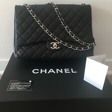 9862a95be25e Chanel authentic double flap Maxi black quilted cross body or shoulder Bag