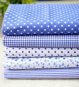 Dandy-Blue-Cotton-Blend-Fabric-BY-THE-YARD-Quilting-Polkadot-Polycotton-fCB087