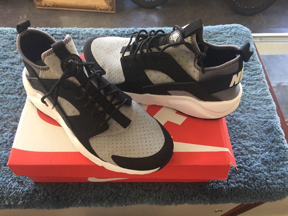 Nike Air huarache Negro Run Ultra Negro huarache Gris comodo 852511