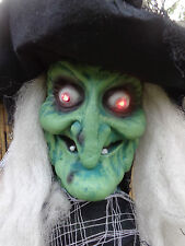 Spooky 5Ft Halloween Party/Prop Green Witch/Ghost/red Eyes/Lights/Window/sound