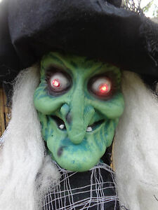 image is loading spooky 5ft halloween party prop green witch ghost