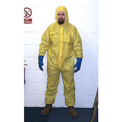 Breaking Bad Yellow Traje nbq Suit Disfraz Heisenberg Walter White máscara