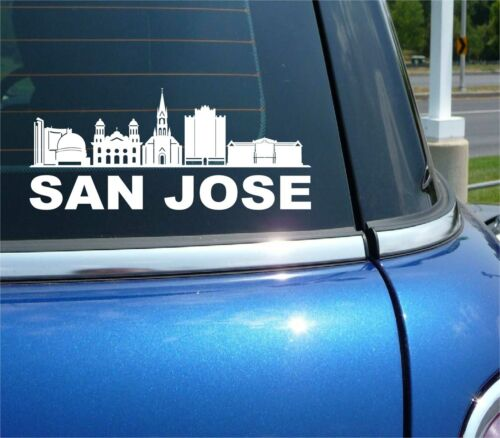 SAN JOSE CALIFORNIA CITY SKYLINE CITYSCAPE CAR WALL DECAL BUMPER STICKER
