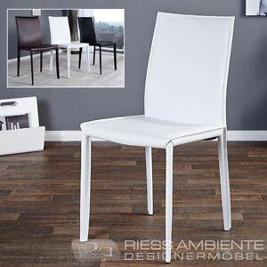 das bild wird geladen exklusiver design stuhl milano echt leder ziernaht farbwahl - Farbwahl Esszimmer