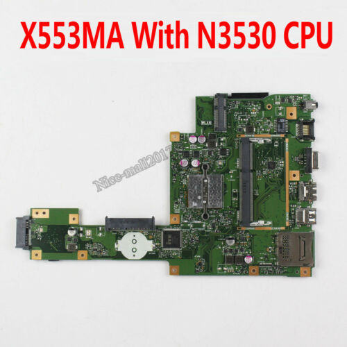 For Asus X553MA F553 F553MA Motherboard W// N3530 CPU REV2.0 Mainboard 4 Cores