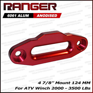 ATV Winch 4 7//8 ATV Aluminum Hawse Fairlead For 2000-3500 LBs