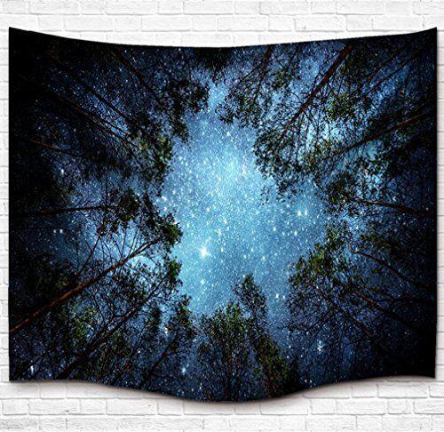 Forest Tapestry Wall Hanging Nuit étoilée galaxy voie lactée dortoir Decor Home