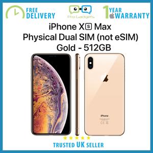 NEU-Apple-iPhone-XS-Max-512gb-6-5-Zoll-Dual-Sim-Entsperrt-Gold-apple-Garantie