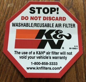 K-amp-N-HI-Flow-AIR-Filters-OCTAGON-Sticker-DECAL-SHELBY-Roush-COBRA-Ford-GT-Chevy