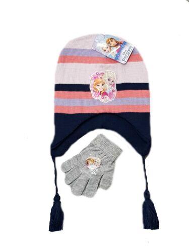 Ragazze Disney congelato invernale PON PON Bobble Cappello E Guanti Set di buona qualità