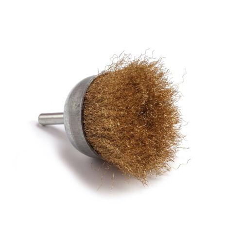 50 Mm Brass Wire Cup Brush Cleaner Outil rotatif pour le nettoyage surface métallique 1Pc