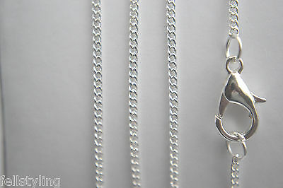 "Fine Silver Plated Brass Necklace Chain - 16"" to 40"" -Buy 1 to10 Chains  SLN-15"