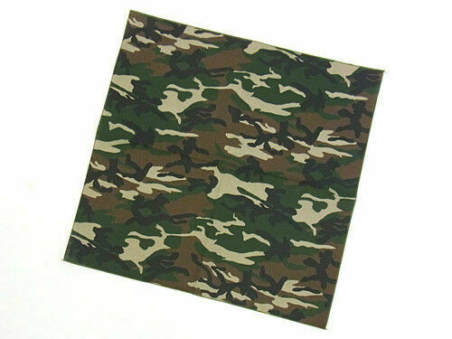 ARMY BANDANA HEAD SCARF NECK TIE RAMBO CAMOUFLAGE UK