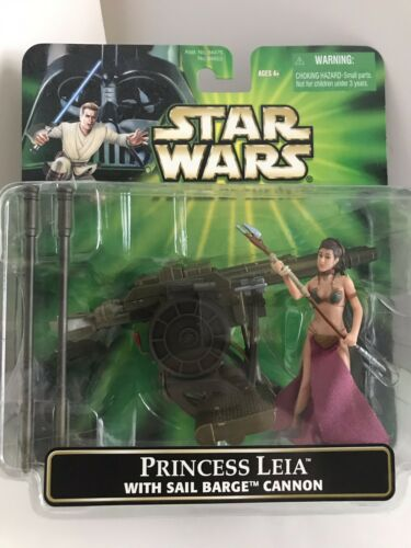 HASBRO STAR WARS POWER OF THE JEDI PRINCESS LEIA WITH SAIL BARGE CANNON DELUXE