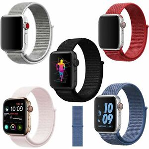 Band-Strap-For-Apple-Watch-Adjustable-Waterproof-Braided-Nylon-Material