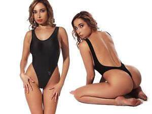 6a5053b250927 Image is loading Exotic-Black-One-Piece-Swimsuit-Thong-High-Cut-