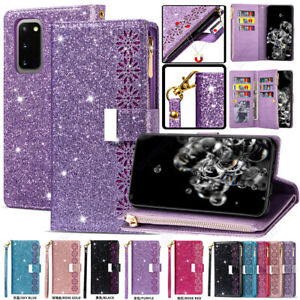 For-Samsung-Galaxy-S20-S10-Plus-A91-A81-A71-A51-Glitter-Leather-Case-Stand-Cover