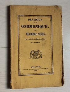 1859 Abbé Chaix: Gnomonique Méthodes Sûres Pour Construire Les Cadrans Solaires