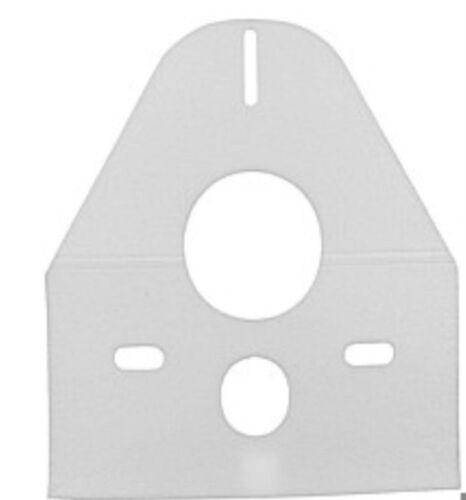 Schallschutzset for Wall Toilet and Wall Bidet 0 5//32in White Colour Incl.