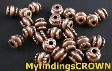 300PCS Antiqued copper whirlpool barrel spacer bead FC333