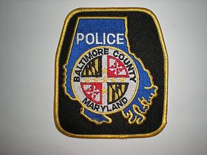 BALTIMORE MARYLAND POLICE DEPARTMENT PATCH