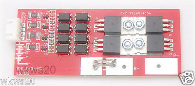 4 cells 20A w/balancing LiFePo4 Lithium ion phospate In Out Protection PCB 12V